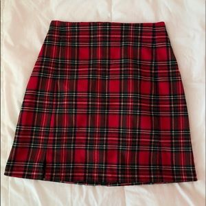 red and green brandy melville cara skirt